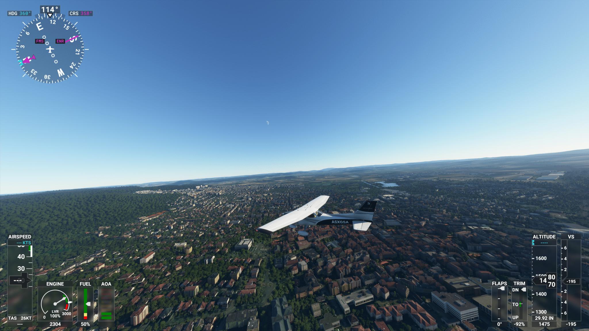 Das ist Göttingen im Flight Simulator